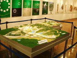 セントレア 万博写真展 会場のジオラマ