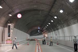 ウォーキング折り返し地点 東海北陸道 飛騨トンネル