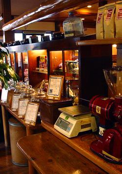 コーヒー豆売り場