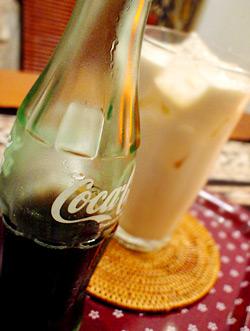 コーラの牛乳割り