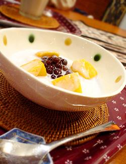 白玉とマンゴーのアジアンスイーツ