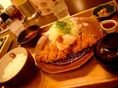 梅おろしチキンかつ定食