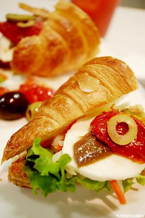 ビゴの店のパンを使用したサンドイッチ