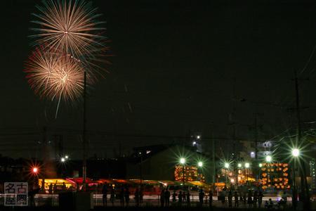西枇杷島まつりの花火