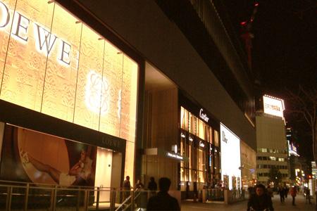 オープン前夜の路面店