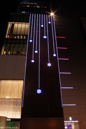 ミッドランドスクエア 南壁面のイルミネーション