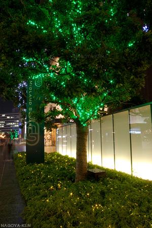 ミッドランドスクエア 街路樹と花壇のイルミネーション