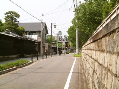 日泰寺近くの街並み