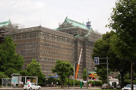 工事中の愛知県庁