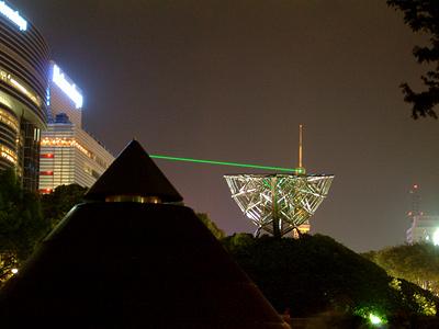 名古屋テレビ塔のレーザー光線発光地点