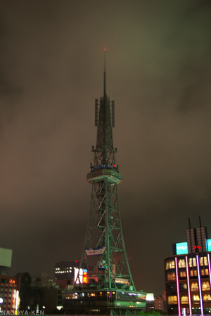 照明が消灯している名古屋テレビ塔
