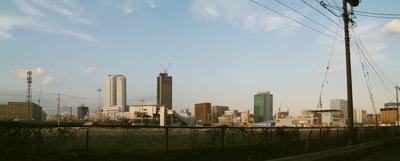 ささしまライブ付近からの名古屋駅周辺