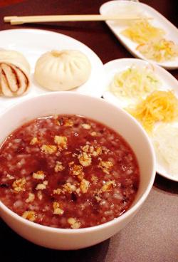 粥ランチ(胡桃小豆粥)