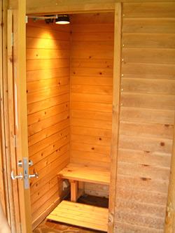 足湯の更衣室