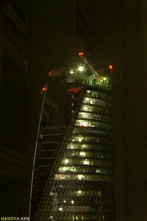 タワーズ15階から見たモード学園スパイラルタワーズ