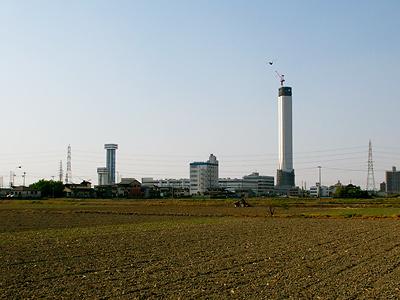 2007年4月29日のエレベータ試験塔