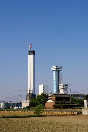 2007年4月29日のエレベーター試験塔