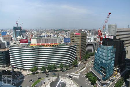 名古屋駅前のようす