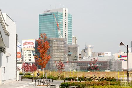ささしまライブ駅前からJICA敷地を見る 2008年11月6日